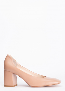 Бежевые туфли Hestia Venezia с квадратным носком, фото
