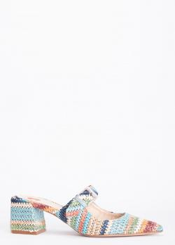 Плетеные мюли Hestia Venezia с ремешком, фото