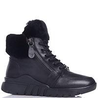 Черные ботинки Roberto Serpentini с боковыми молниями, фото