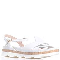 Белые сандалии Tosca Blu на толстой подошве, фото