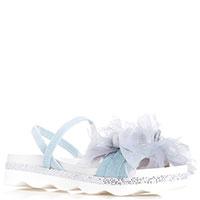 Голубые босоножки Tosca Blu с объемным декором, фото