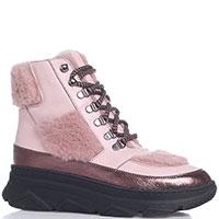Розовые ботинки Roberto Serpentini на толстой подошве, фото
