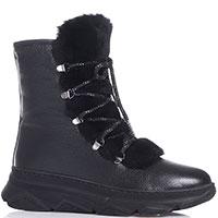 Черные ботинки Roberto Serpentini с декором-шнуровкой, фото