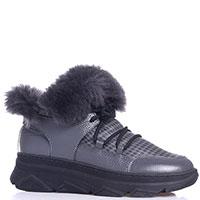 Ботинки серого цвета Roberto Serpentini на толстой подошве, фото