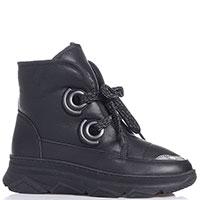 Ботинки на шнуровке Roberto Serpentini черного цвета, фото