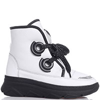 Белые ботинки Roberto Serpentini с крупной шнуровкой, фото
