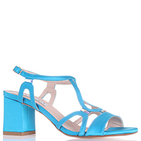 Босоножки Tiffi голубого цвета на среднем каблуке, фото