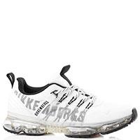 Белые кроссовки Bikkembergs на прозрачной подошве, фото