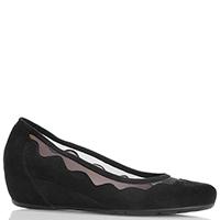 Черные замшевые туфли Pas De Rouge с декором-кружевом, фото