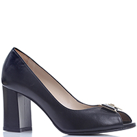 Туфли Norma J.Baker черного цвета с открытым носком, фото