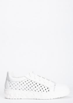 Белые кеды 7AM с крупной перфорацией, фото
