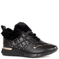 Черные кроссовки Helena Soretti на меху, фото