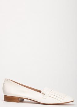 Белые лоферы Giorgio Fabiani с бахромой, фото