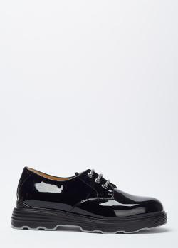 Лаковые туфли Giovanni Fabiani на шнуровке, фото