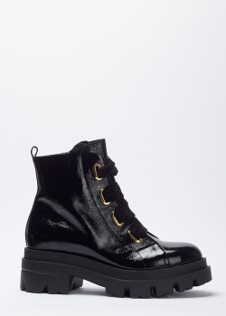 Лаковые ботинки Giovanni Fabiani черного цвета, фото