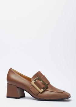 Коричневые туфли Giovanni Fabiani с квадратным носком, фото