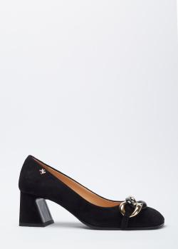 Замшевые туфли Marino Fabiani с декором-цепью, фото