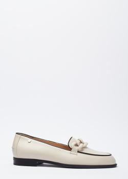 Белые лоферы Marino Fabiani с контрастным кантом, фото