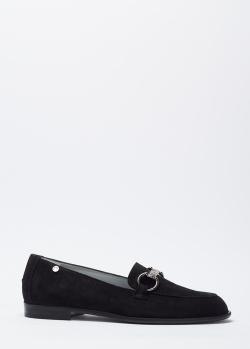 Замшевые лоферы Marino Fabiani черного цвета, фото