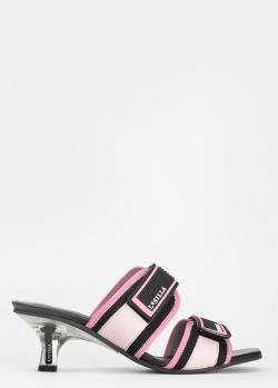 Розовые мюли Le Silla на каблуке-рюмочке, фото