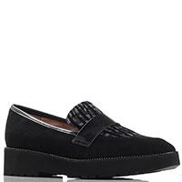 Туфли-лоферы Status из черной замши, фото