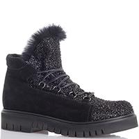 Черные замшевые ботинки Fru.It Now на устойчивом каблуке, фото