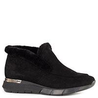Низкие ботинки Helena Soretti из черной замши, фото