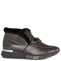 Черные ботинки Helena Soretti с камнями, фото