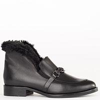 Черные ботинки Helena Soretti утепленные мехом, фото