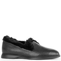 Туфли на меху Giovanni Fabiani из черной кожи, фото