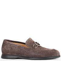 Замшевые туфли-лоферы Giovanni Fabiani с пряжкой, фото