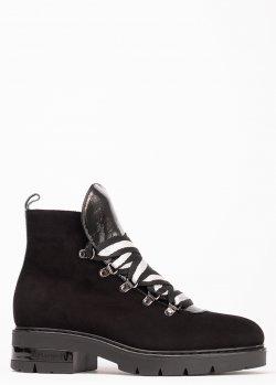 Черные ботинки Ilasio Renzoni с декором-камнями, фото