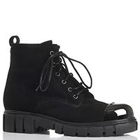 Черные ботинки из замши Fru.It Now с металлическим носочком, фото