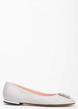 Серые балетки Ilasio Renzoni с пряжками, фото