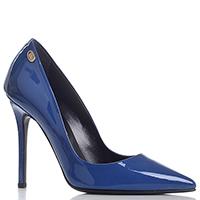 Туфли-лодочки Gianni Renzi Renzi из лаковой кожи синего цвета, фото