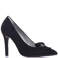 Черные туфли-лодочки Marino Fabiani с декором на носке, фото