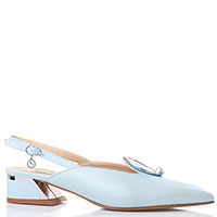 Туфли-слингбэки Marino Fabiani голубого цвета, фото