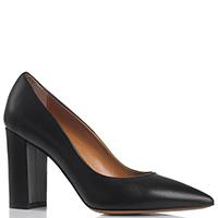 Лодочки на толстом каблуке Tiffi из гладкой кожи черного цвета, фото