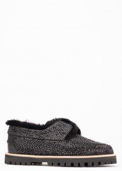 Туфли на меху Le Silla с декором-стразами, фото