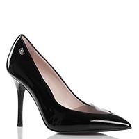 Черные лаковые туфли Norma J.Baker с прозрачной вставкой на носке, фото
