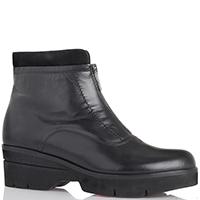 Черные женские ботинки Pas de noir на толстой подошве, фото