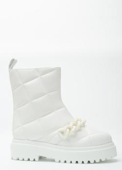 Белые сапоги Le Silla с геометрической стежкой, фото