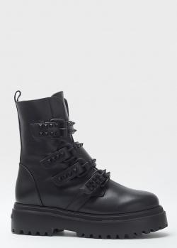 Черные ботинки Le Silla с декором-шипами, фото