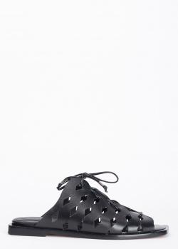 Черные мюли Laura Bellariva из гладкой кожи, фото
