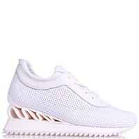 Белые кроссовки Le Silla с перфорацией, фото