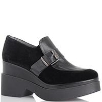 Женские замшевые ботинки Kanna на толстой подошве, фото