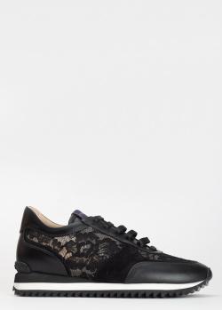 Черные кроссовки Le Silla с кружевными вставками, фото