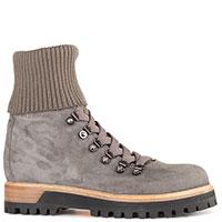 Серые ботинки Le Silla с текстильным чулком, фото