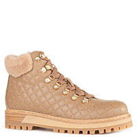Стеганные ботинки Le Silla бежевого цвета, фото