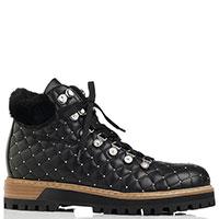 Стеганые ботинки Le Silla черного цвета, фото
